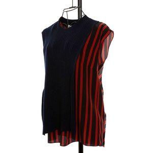 3.1 Phillip Lim Sweater/Printed Silk Ruffle Tank